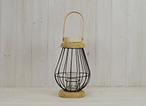 Small Bulbous Wire Lantern