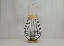 Medium Bulbous Wire Lantern