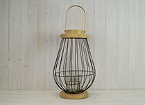 Large Bulbous Wire Lantern