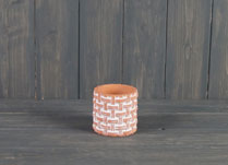 Small Terracotta Basket Weave Pot