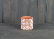 Medium Terracotta Basket Weave Pot