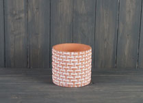 Large Terracotta Basket Weave Pot