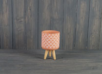 Small Terracotta Pot On Three Legs