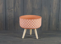 Terracotta Bowl On Three Legs