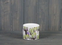 A lovely geometric leaf designed ceramic pot, perfect for indoor potplants.