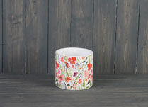 Medium Meadow Design Ceramic Pot