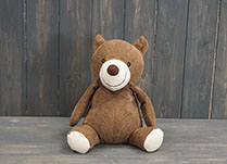 Brown Teddy Bear Sitting Up Doorstop detail page