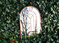 Large Copper Arched Mirror H91cm