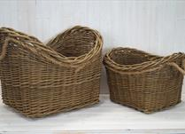 Set of two storage baskets detail page