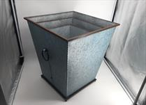 Set of 3 Large Metal Square Tall Planters