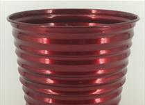 18cm TV Red Ribbed Planter