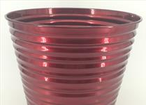 25cm TV Red Ribbed Planter