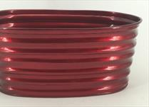 TV Red Ribbed Trough