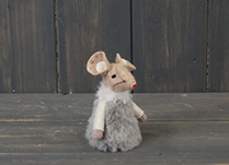 Grey Fabric Mouse (8cm)