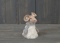 White Fabric Mouse (8cm)