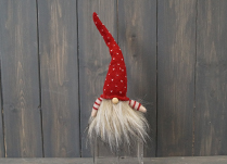Red Heart Tall Hat Fabric Gonk (24cm)
