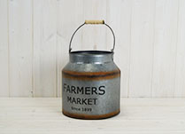 "Medium ""Farmers Market"" Grey Churn"